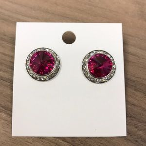 Jewelry - Pink round earrings